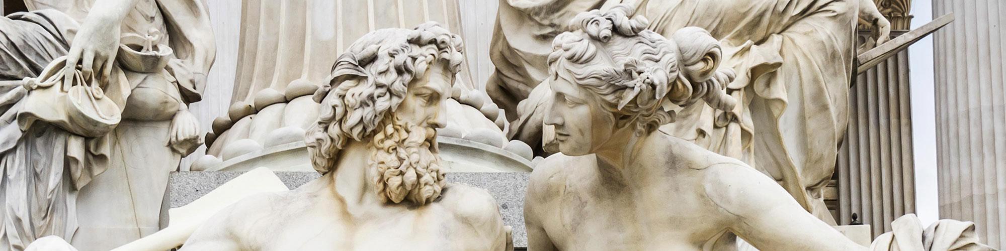 Austrian German Cultural Stone Statues