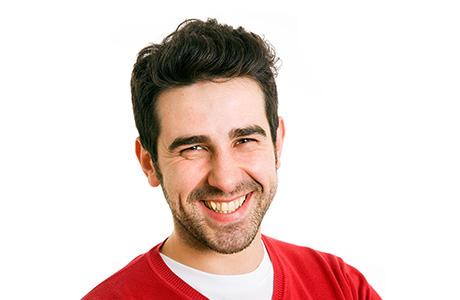 Basque Translation Services Professional Red Jumper Smiling