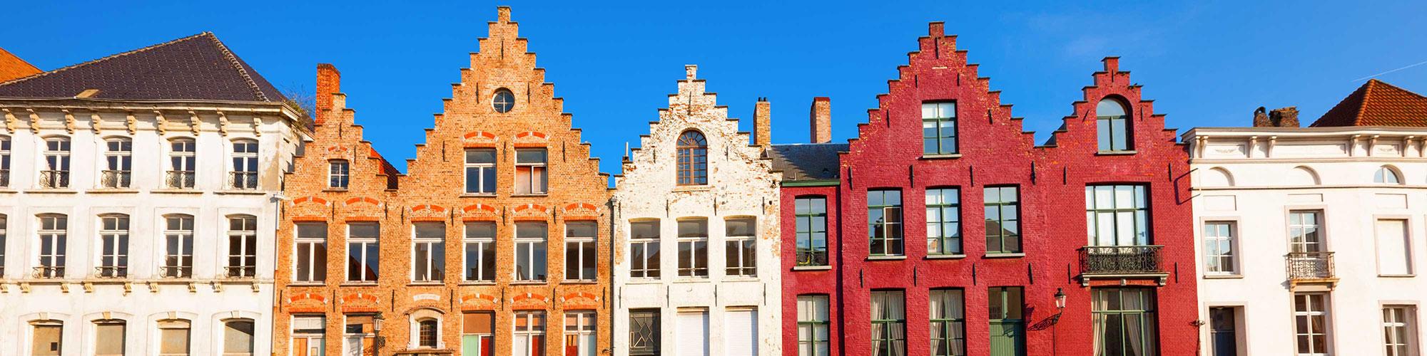 Belgian Dutch Style Buildings in Belgium Colorful
