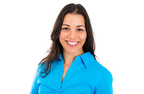 Portuguese Brazilian Translation Services Professional Blue Top Smiling