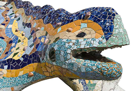 Catalan Translation of Tiled Gaud Lizzard