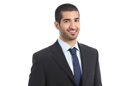 Dari Translation Services Professional Wearing Suit & Tie
