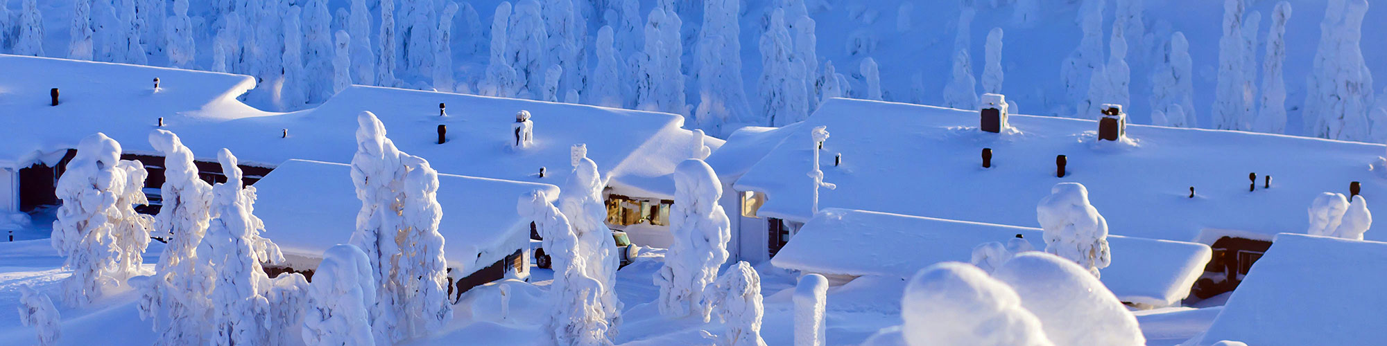 Finnish Homes in Finland with Snow