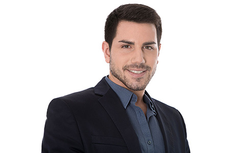 Greek Translation Services Professional Beard on a White Background