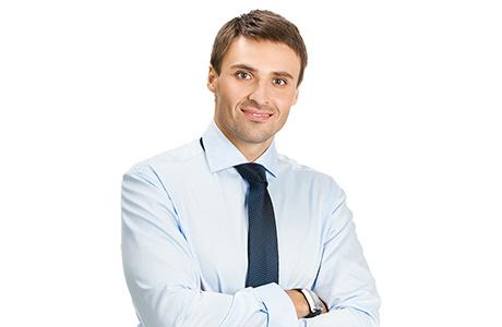 Lithuanian Translation Services Professional Dark Blue Tie