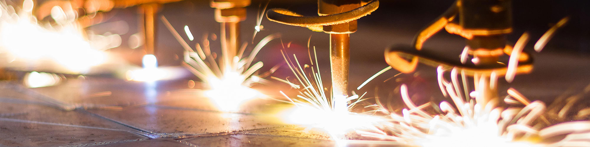 Manufacturing Machines Work with Soldering Sparks