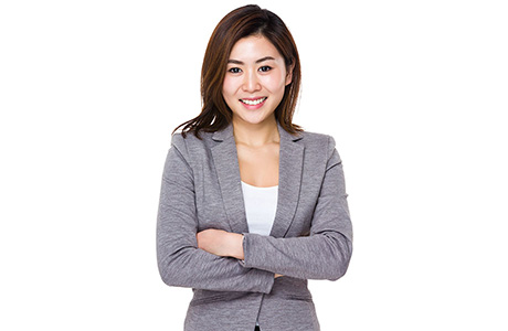 Cantonese Translation Services Professional Wearing Grey