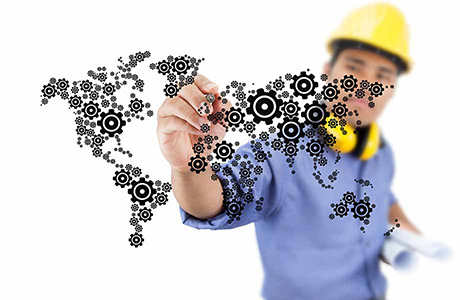 Specialist Technical Professional Translator World Map Gears