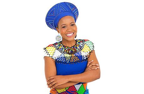 Zulu Professional Translator Wearing Traditional Costume