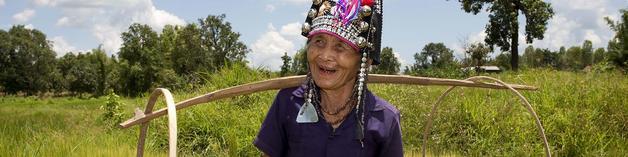 Laotian Filed Worker Traditional Headgear