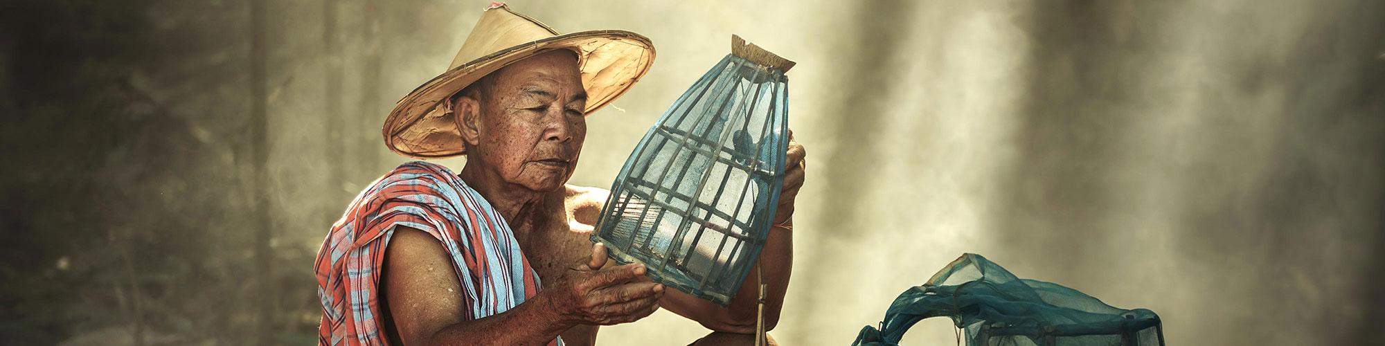 Lao Expert Looking Net Caught