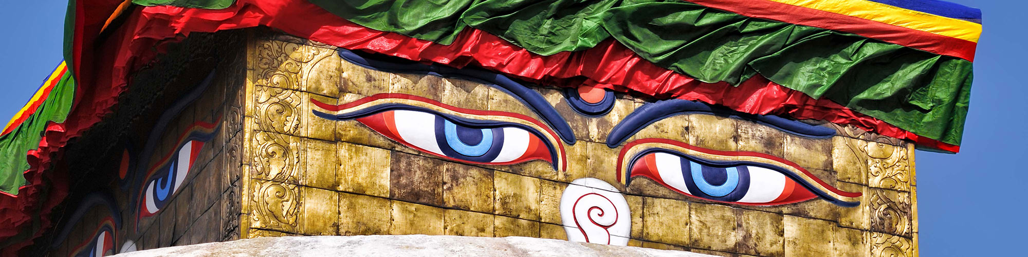 Nepalese Statue with Big Eyes