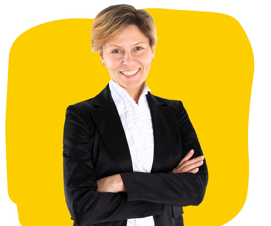 Contract Translation Services Professional Legal in Black Suit Smiling