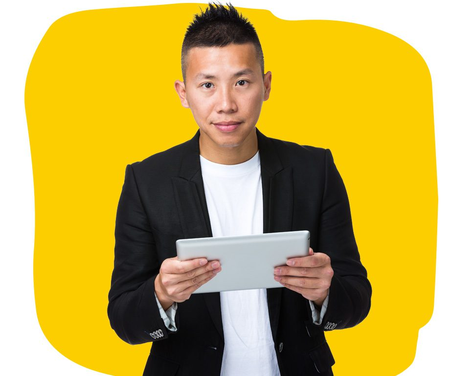 App Professional Translator Working on Tablet