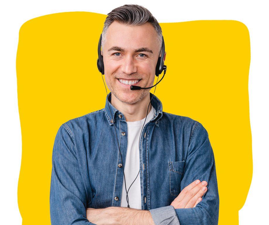 Telephone Interpreter with Headset